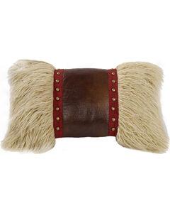 HiEnd Accents Mongolian Fur Throw Pillow, Multi, hi-res