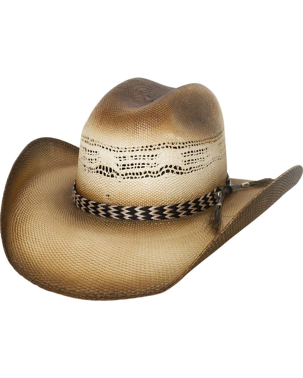 Bullhide Raising Sand Horsehair Band Straw Cowboy Hat , Tan, hi-res