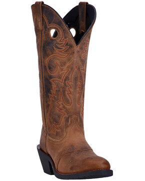Laredo Men's Hank Western Boots - Round Toe, Brown, hi-res