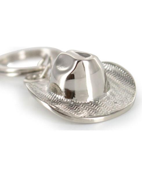 Cody James Cowboy Hat Keychain, Silver, hi-res