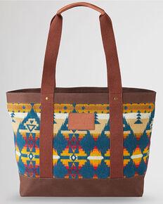 Pendleton Women's Zipper Aztec Tote Bag, Brown, hi-res