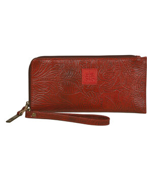 STS Ranchwear Red Floral Clutch Wallet, Red, hi-res