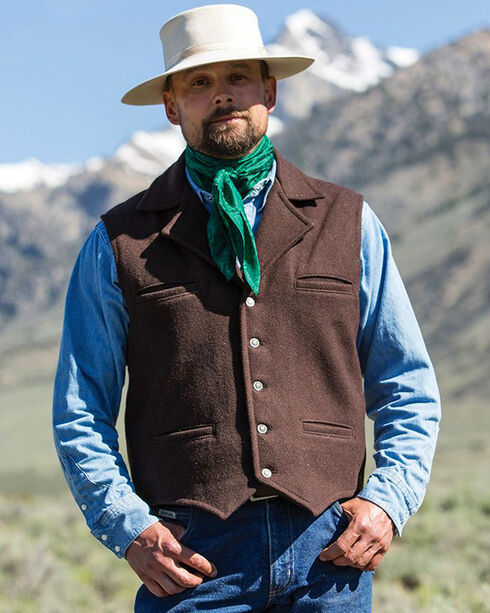 Schaefer Outfitter Men's Chocolate Cattle Baron Vest - Big 2X, Chocolate, hi-res
