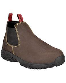 Avenger Men's Brown Romeo Work Boots - Alloy Toe, Brown, hi-res