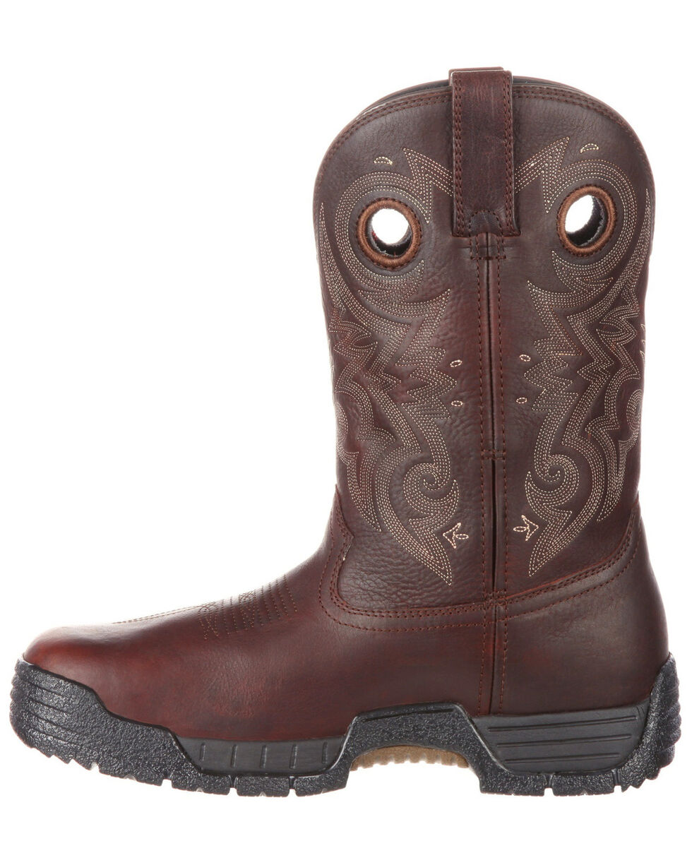 Rocky Men's Mobilite Waterproof Western Work Boots - Safety Toe, , hi-res
