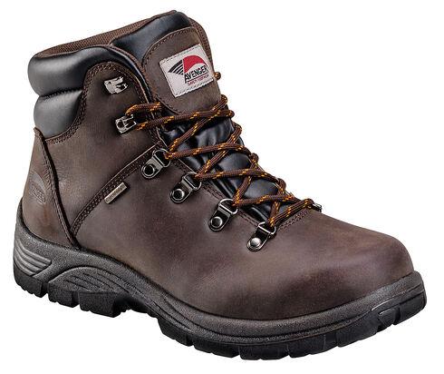 Avenger Men's Waterproof Lace-Up Work Boots - Steel Toe, Brown, hi-res