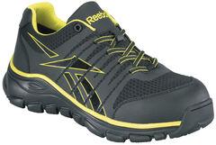 Reebok Men's Arion Oxford Work Shoes - Composition Toe, Black, hi-res