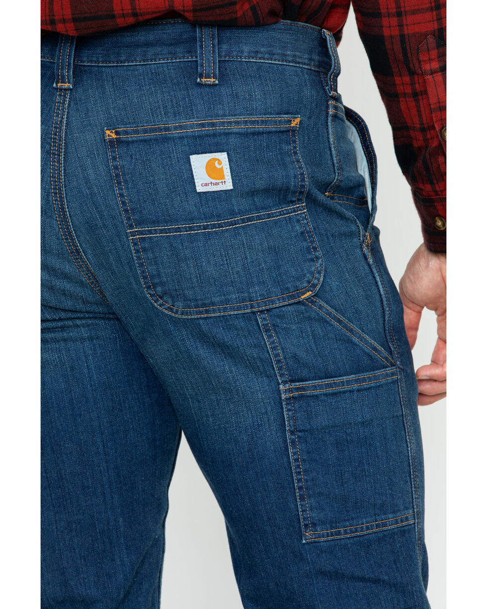 Carhartt Men's Full Swing Relaxed Fit Dungaree Jeans, Dark Blue, hi-res