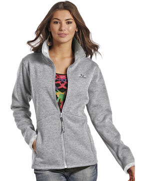 Powder River Outfiitters Purple Knit Jacket , Silver, hi-res