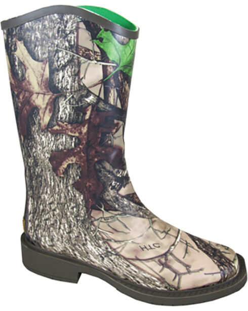 Smoky Mountain Women's Ocanee Rain Boots - Square Toe , Camouflage, hi-res