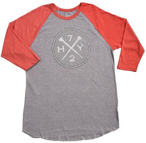 Hooey Men's Grey HY72 Baseball T-Shirt , Grey, hi-res