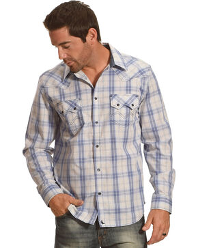 Cody James Men's Silver Legacy Plaid Long Sleeve Shirt - Big and Tall , Grey, hi-res