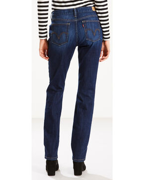 Levi's Women's 505 Straight Leg Jeans, Indigo, hi-res