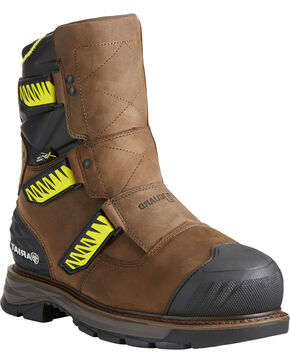 Ariat Men's Catalyst VX Metguard H20 Work Boots - Composite Toe, Brown, hi-res