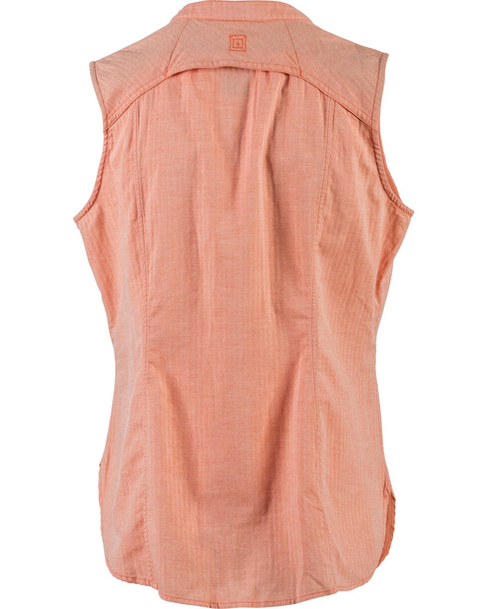 5.11 Tactical Women's Meadow Sleeveless Top, Peach, hi-res