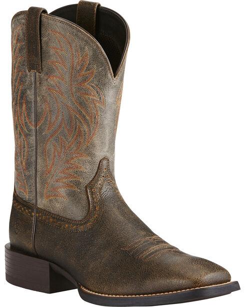 Ariat Men's Sport Western Boots - Square Toe, Brown, hi-res
