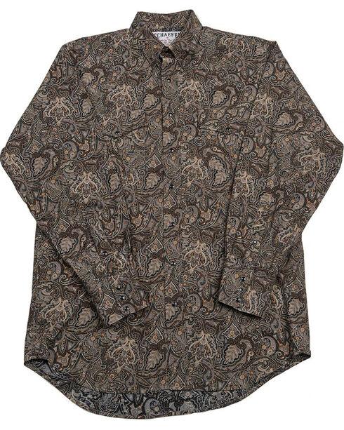 Schaefer Outfitter Men's Black Frontier Paisley Western Snap Shirt - 2XL, Black, hi-res