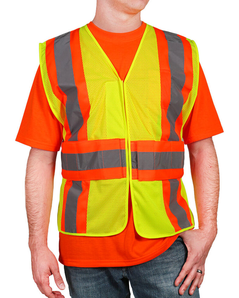 American Worker Men s Yellow 2-Tone Vest - Big   Tall  4f9620010