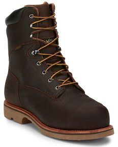 Chippewa Men's Serious Plus Waterproof Work Boots - Composite Toe, Brown, hi-res