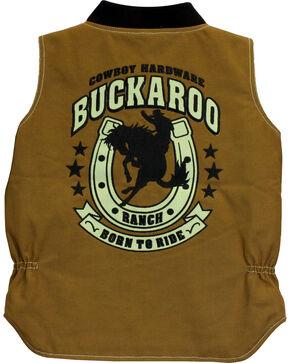 Cowboy Hardware Boys' Buckaroo Canvas Vest, Tan, hi-res