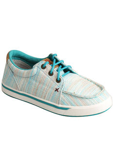Twisted X Youth Boys' Blue HOOey Loper Shoes - Moc Toe, Blue, hi-res