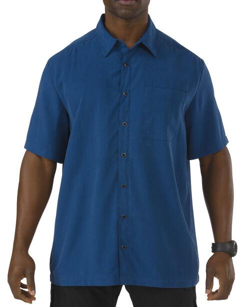 5.11 Tactical Covert Select Short Sleeve Shirt, Blue, hi-res