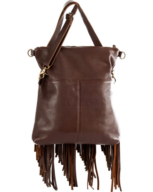 STS Ranchwear Freebird Fringe Concealed Carry Handbag, Chocolate, hi-res