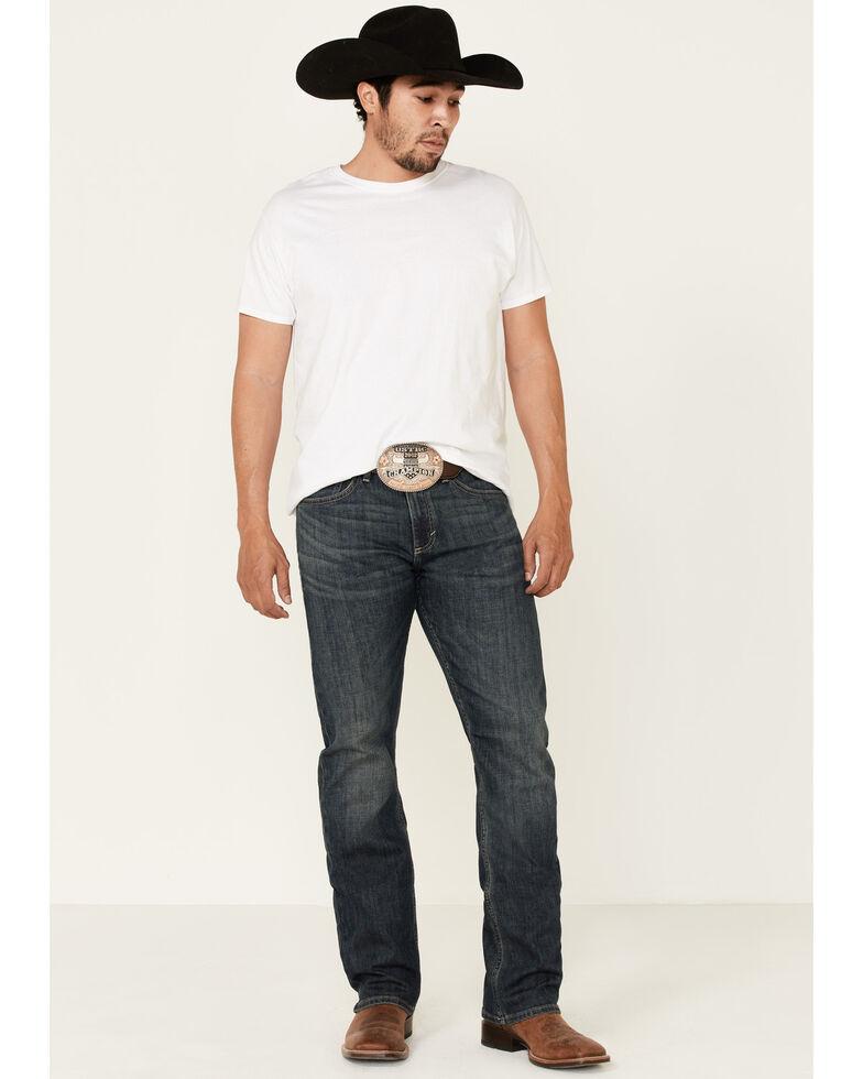 Wrangler 20X Men's Blue Bonnet Dark Stretch Slim Straight Jeans , Blue, hi-res