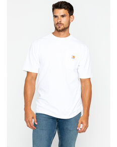 Carhartt Short Sleeve Pocket Work T-Shirt, White, hi-res