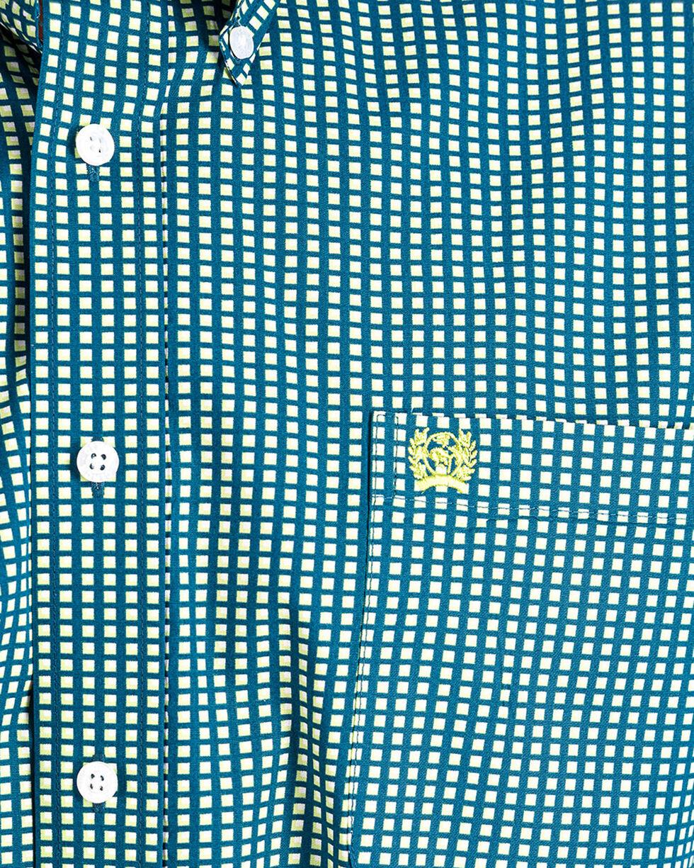 Cinch Men's Navy Short Sleeve Printed Shirt , Navy, hi-res