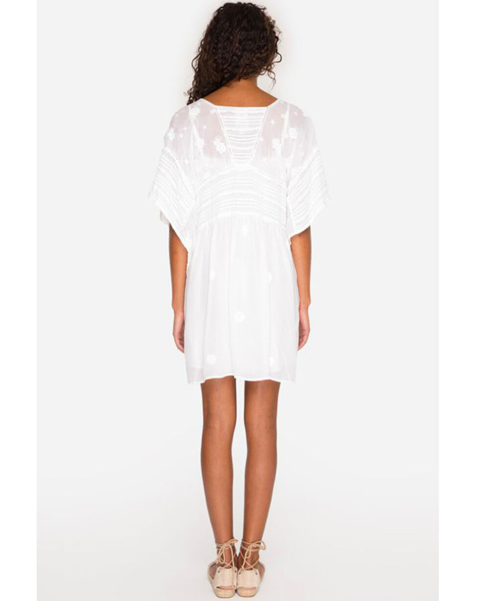 Johnny Was Women's White Heidine Poncho , White, hi-res