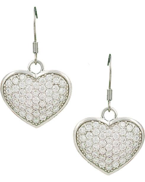 Montana Silversmiths Star Lights Heart Bright Earrings, Silver, hi-res