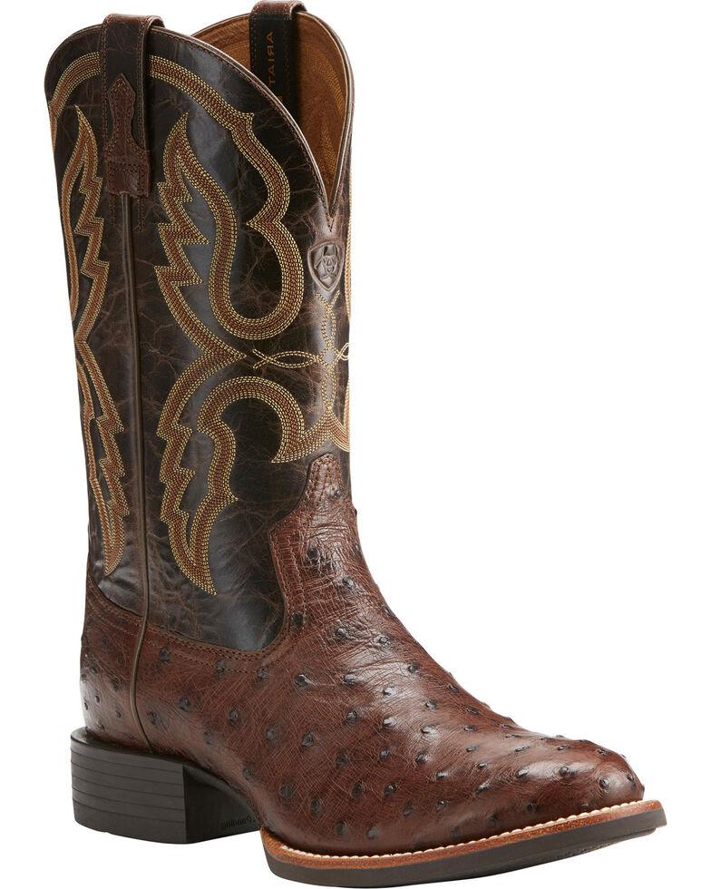 Ariat Men S Quantum Pro Full Quill Ostrich Cowboy Boots