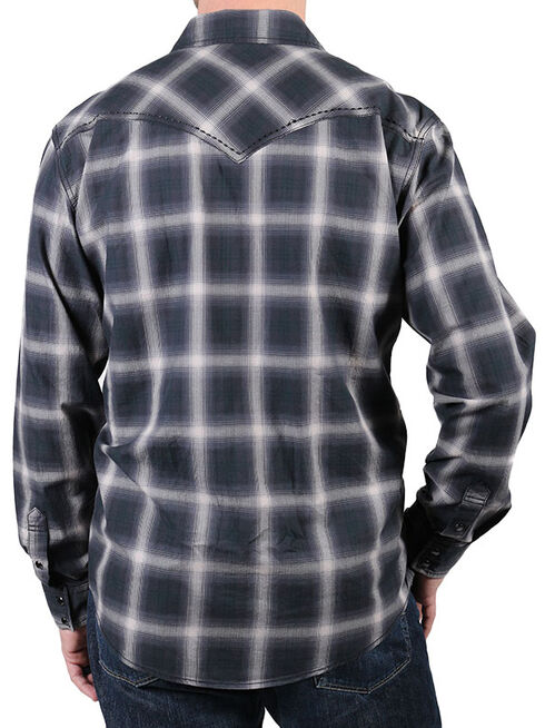 Cody James Men's Pyrite Black Plaid Shirt, Black, hi-res