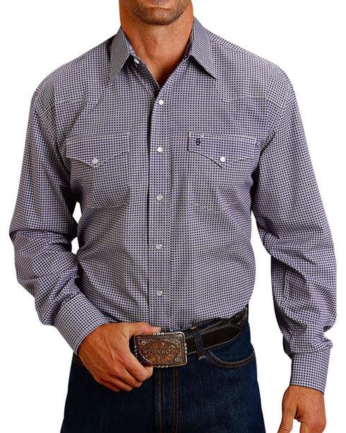 Stetson Men's Purple Geo Long Sleeve Western Shirt, Purple, hi-res
