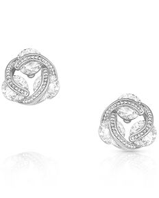 Montana Silversmiths Women's Holding On To Starlight Earrings, Silver, hi-res