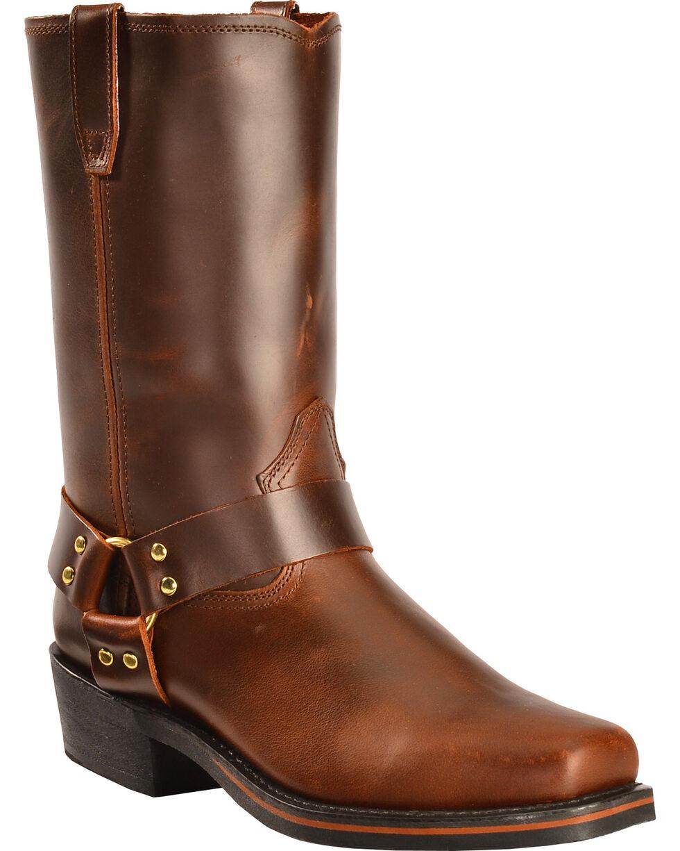 Dingo Jay Harness Boots - Snoot Toe, Mahogany, hi-res