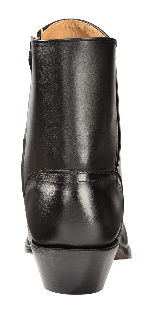 Boulet Side Zip Ankle Boots - Round Toe, Black, hi-res