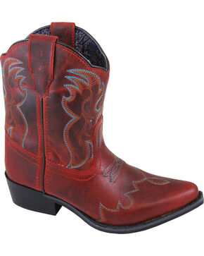 Smoky Mountain Girls' Red Juniper Short Boots - Pointed Toe , Red, hi-res