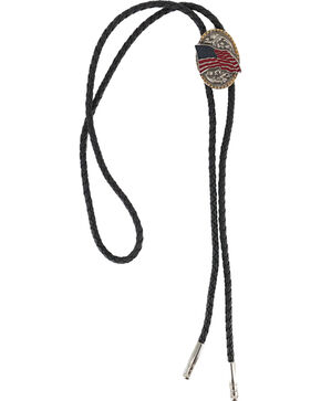 Cody James Men's American Flag Bolo Tie, Multi, hi-res