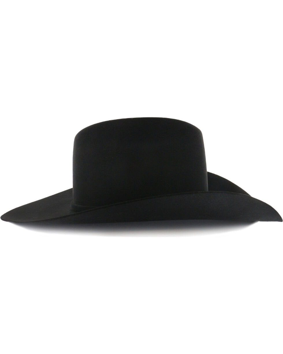 Rodeo King Rodeo 5X Black Felt Cowboy Hat, Black, hi-res