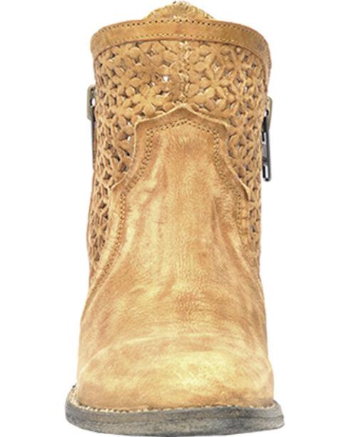 Circle G Women's Cutout Short Boots - Round Toe, Tan, hi-res