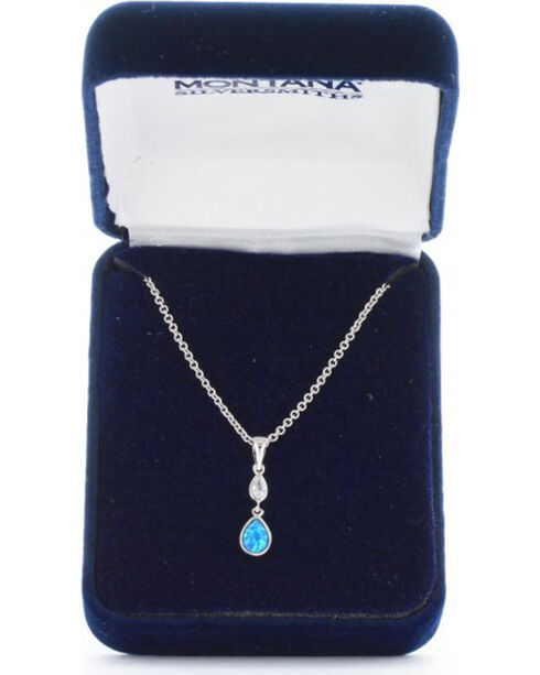 Montana Silversmiths Women's River of Lights Falling into Water Necklace , Silver, hi-res