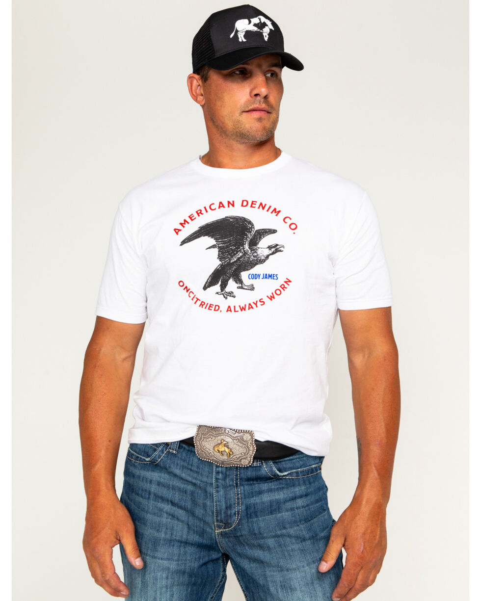 Cody James Men's American Denim Co. Short Sleeve T-Shirt, White, hi-res