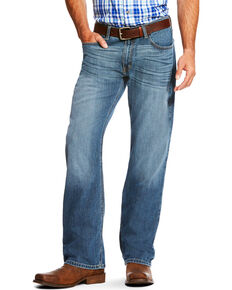 Ariat Men's Blue Low Rise M7 Legacy Stretch Drifter Jeans - Boot Cut , Blue, hi-res