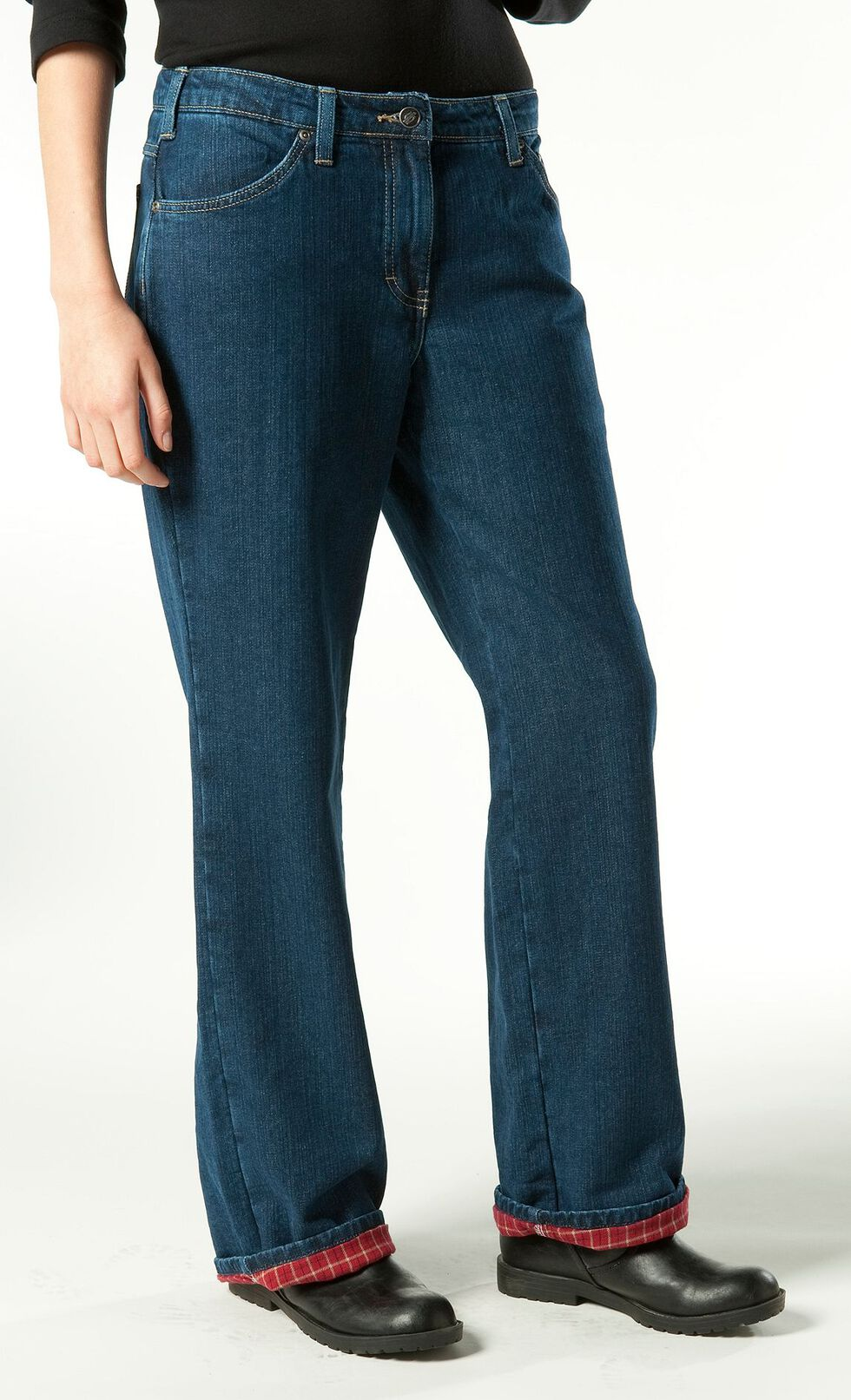 Dickies Flannel Lined Relaxed Fit Jeans, Denim, hi-res