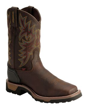 Tony Lama Bark Badger Waterproof Work Boots, Bark, hi-res