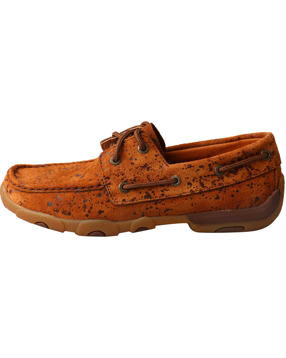 Twisted X Women's Tawny Splash Driving Mocs - Moc Toe, Tan, hi-res