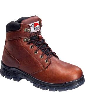 Avenger Men's Brown Waterproof Work Boots - Steel Toe, Brown, hi-res