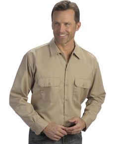 Dickies Long Sleeve Work Shirt - FOLDED, Khaki, hi-res